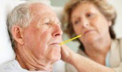 Bệnh nhân ung thư bị sốt thường có biểu hiện sốt.