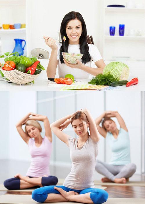 Ăn uống lành mạnh, tập thể dục thường xuyên là cách phòng tránh ung thư buồng trứng đơn giản.
