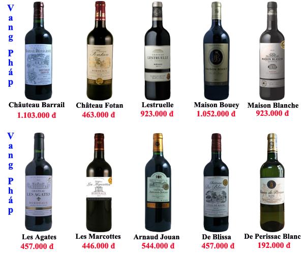 Rượu nho có nhiều mức giá khác nhau