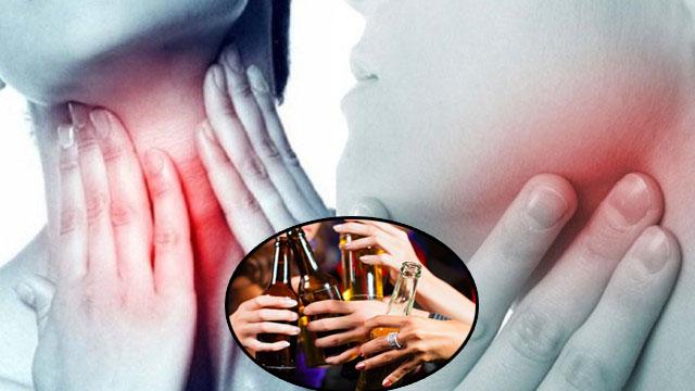 Người ung thư vòm họng nên từ bỏ rượu bia