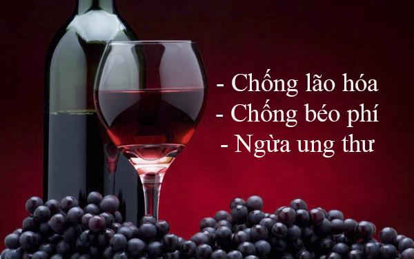 Rượu nho có rất nhiều tác dụng