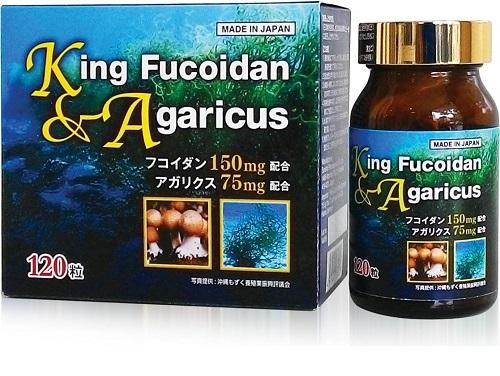 King Fucoidan & Agaricus kết hợp giữa tảo nâu và nấm agarucus phòng bệnh ung thư rất tốt.