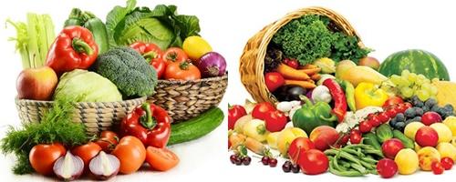 Hoa quả và rau xanh là thực phẩm có lợi cho bệnh nhân mắc ung thư