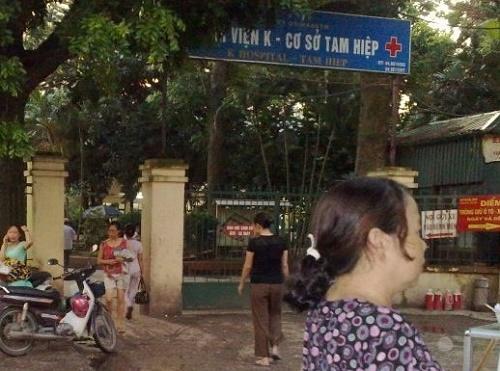Bệnh viện K Hà Nội cơ sở 2 nằm tại Tam Hiệp