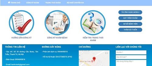 Đăng ký khám bệnh tại viện K qua website