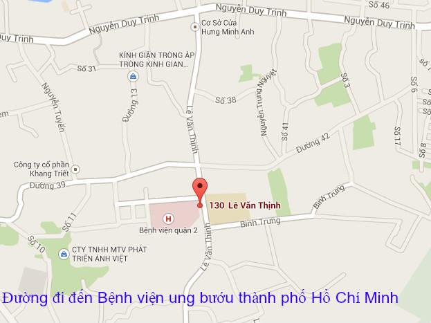 Đường đi đến bệnh viện ung bướu thành phố Hồ Chí Minh