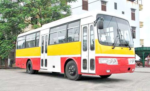 Xe bus đi qua bệnh viện K cơ sở 2