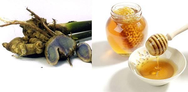 Bài thuốc từ bột nghệ mật và mật ong