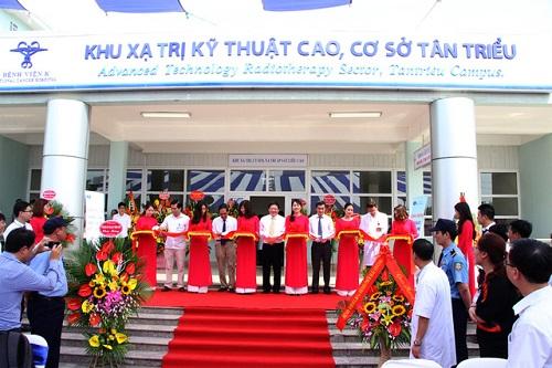 Bệnh viện K cơ sở 2 địa chỉ khánh thành khu xạ trị kỹ thuật cao