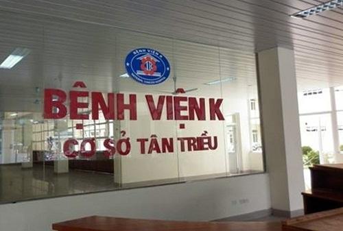 Bệnh viện K cơ sở 3 gắn liền với logo bệnh viện K