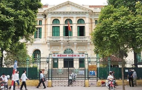 Bệnh viện K Hà Nội cơ sở 1 ở Quán Sứ Hà Nội