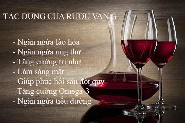 Rượu vang có nhiều công dụng với sức khỏe người dùng