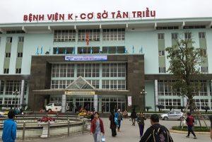 Địa điểm bệnh viện K trung ương ở Tân Triều.