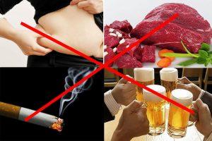 Phòng chống ung thư bằng cách hạn chế bia rượu, không hút thuốc lá, ăn uống lành mạnh...