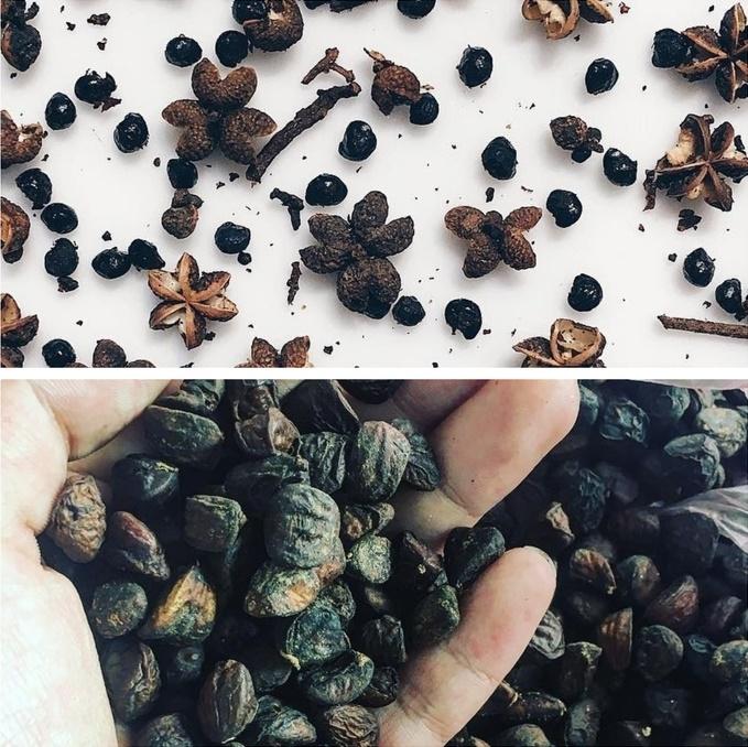 """Hình ảnh hạt """"vàng đen"""" thường dễ nhầm với hạt mắc khén"""