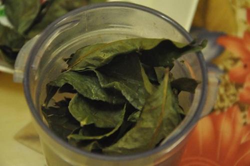 Lá trà xanh khô