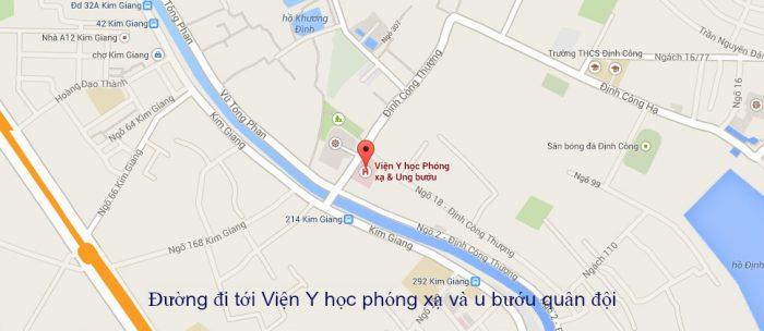 Cách tìm kiếm địa chỉ Bệnh viện Ung bướu quân đội Hà Nội
