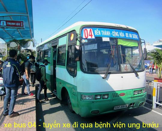 Tuyến xe 04 - xe bus đi qua bệnh viện ung bướu hà nội