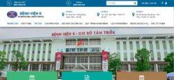 Hình ảnh website bệnh viện K Hà Nội