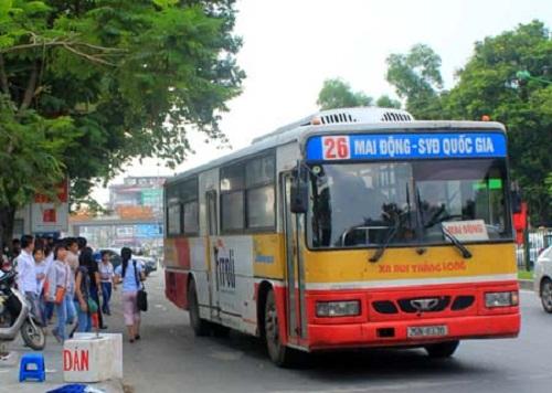 Tuyến bus 26 đi qua Bệnh viện U bướu Hà Nội