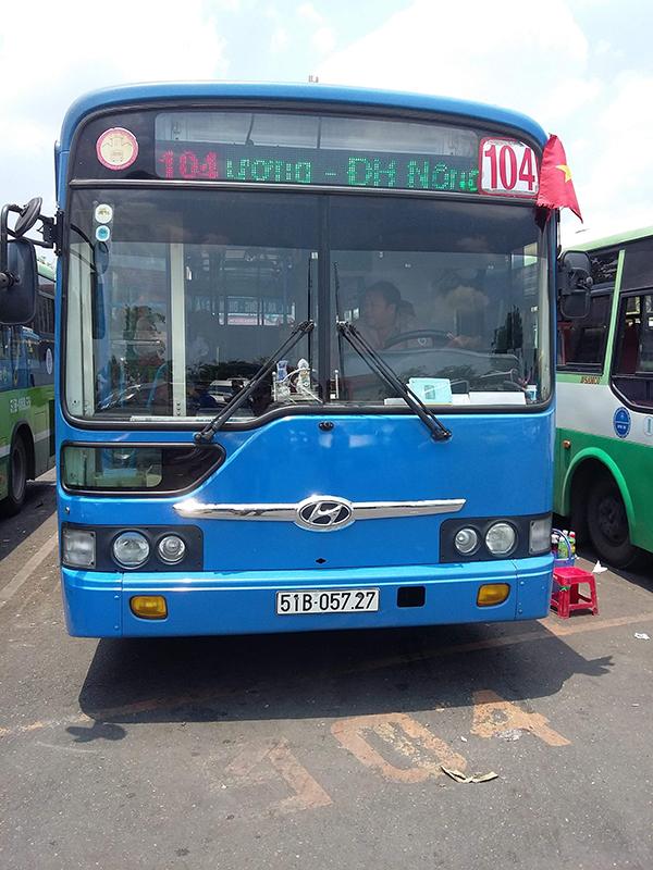 Xe buýt số 104 đi đến Bệnh viện Ung bướu cơ sở 2
