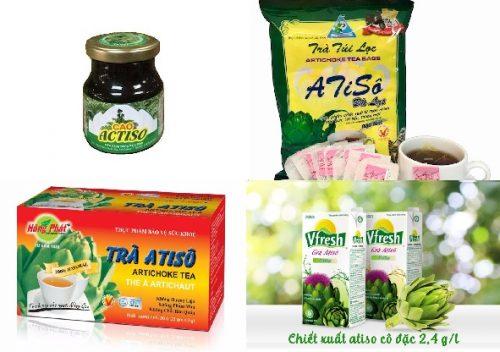 Cây actisô còn được dùng để làm trà, cao,... rất tốt cho sức khỏe
