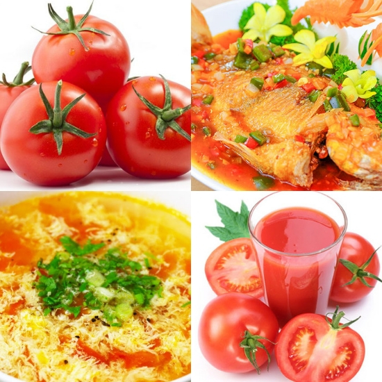 Cách sử dụng cà chua trong ẩm thực
