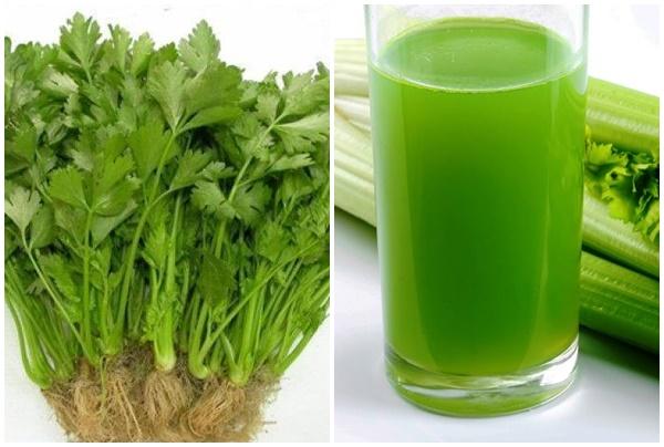Tác dụng giảm cân của nước ép rau cần tây.