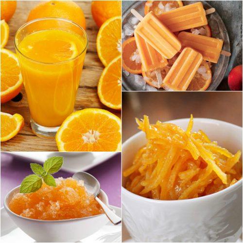 Cách chế biến cam thành kem, nước ép, mứt,...