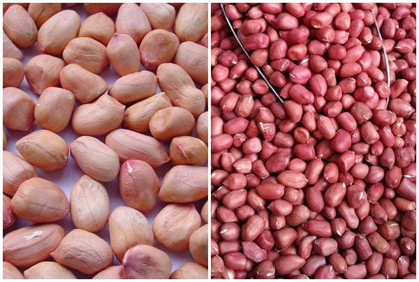 Lạc trắng và đỏ đều có giá trị dinh dưỡng cao.