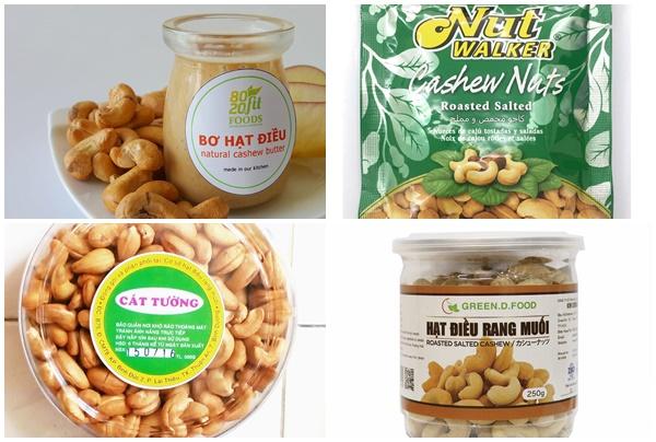 Hạt điều rang muối, bơ hạt điều là những sản phẩm được ưa chuộng trên thị trường hiện nay.