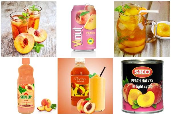 Nước ép quả đào là đồ uống nhiều người ưa chuộng.