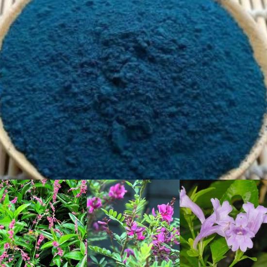 Đặc điểm của thanh đại là loại bột màu xanh lam được tạo nên từ 3 loại cây chàm