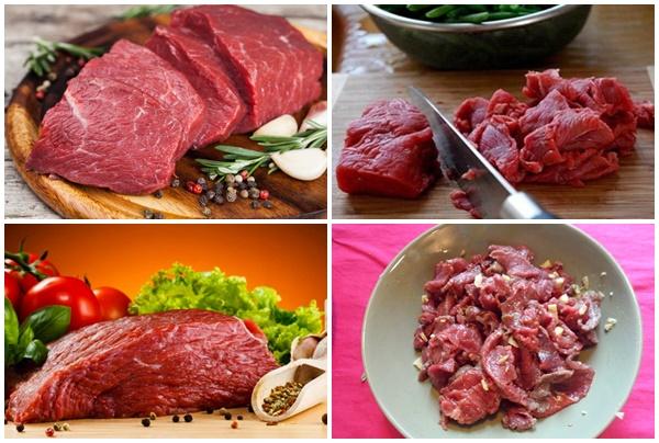 Thịt bò có màu đỏ tươi, thớ nhỏ và mùi vị đặc trưng.