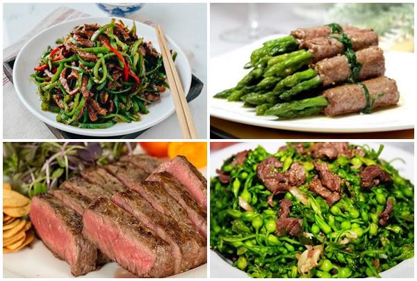 Cách chế biến thịt bò thành các món ăn bổ dưỡng.