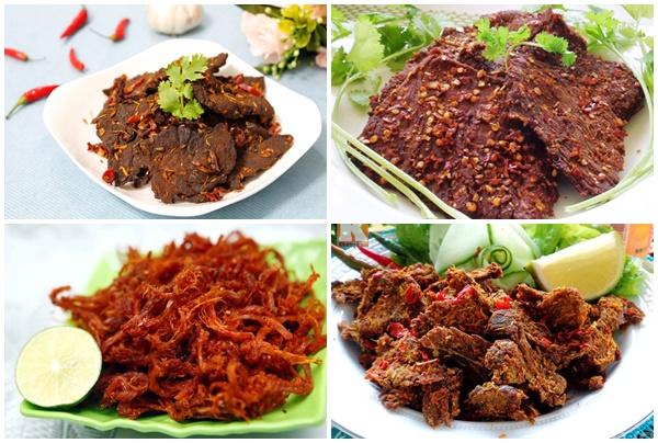 Thịt bò khô là món ăn nhiều người ưa chuộng.