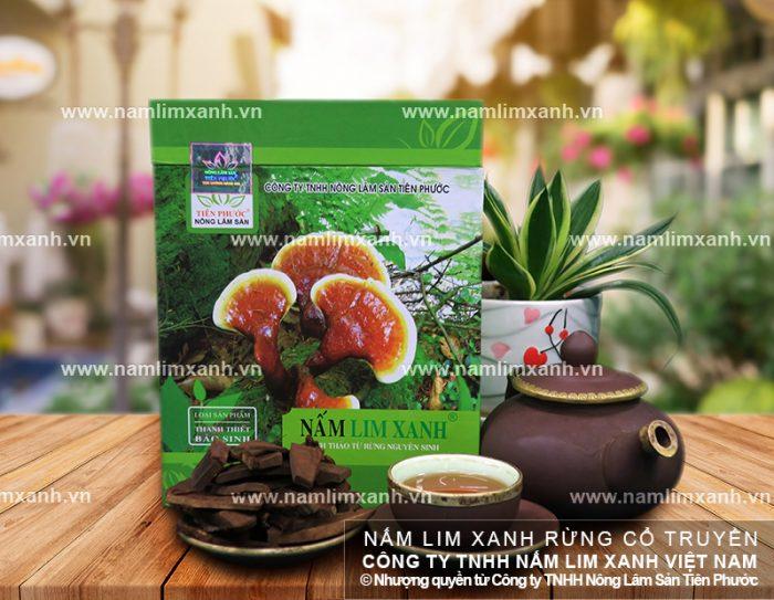 Sản phẩm nấm lim xanh chế biến từ nấm lim xanh rừng tự nhiên.