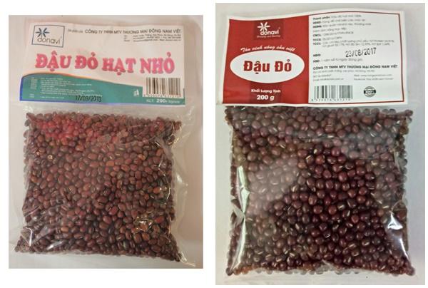 Đậu đỏ nhỏ khô được đóng gói bán trên thị trường hiện nay.