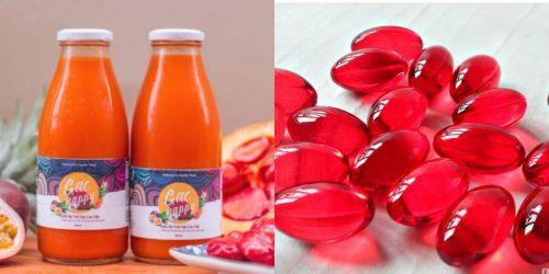 Sản phẩm của gấc như nước ép hay dầu gấc đều tốt cho sức khỏe