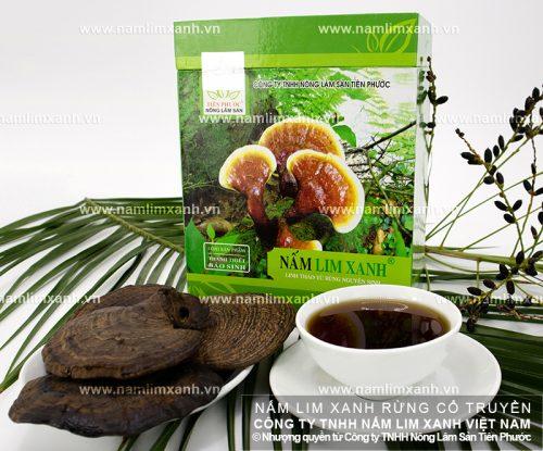 Sản phẩm nấm lim xanh của Công ty TNHH Nông lâm sản Tiên Phước đã qua sơ chế, đảm bảo an toàn khi sử dụng