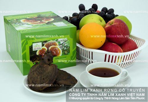 Sản phẩm nấm lim xanh của Công ty TNHH Nông lâm sản Tiên Phước được loại bỏ hoàn toàn độc tố, an toàn khi sử dụng
