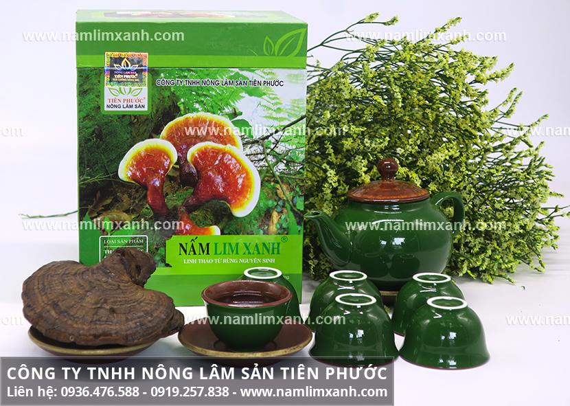Cách nấu nấm lim xanh Quảng Nam với nấm lim xanh Quảng Nam hãm nước sôi