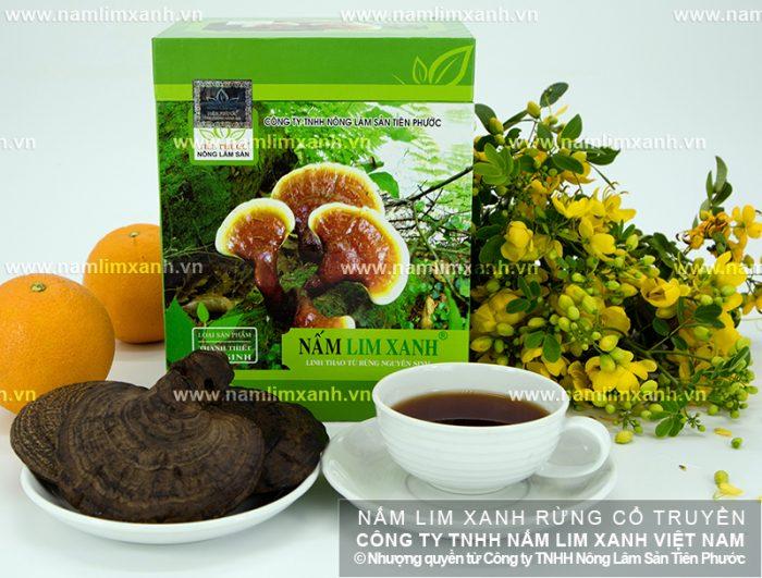 Nấm lim xanh pha trà giảm cân được nhiều người ưa chuộng.