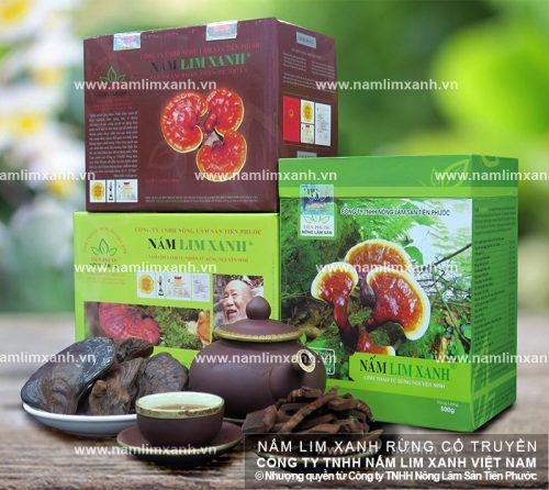 Giá bán nấm lim xanh Tiên Phước của Công ty TNHH Nông lâm sản Tiên Phước được niêm yết công khai