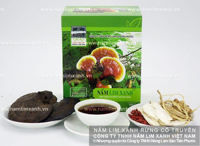 Giá nấm lim xanh Tiên Phước niêm yết trên thị trường.