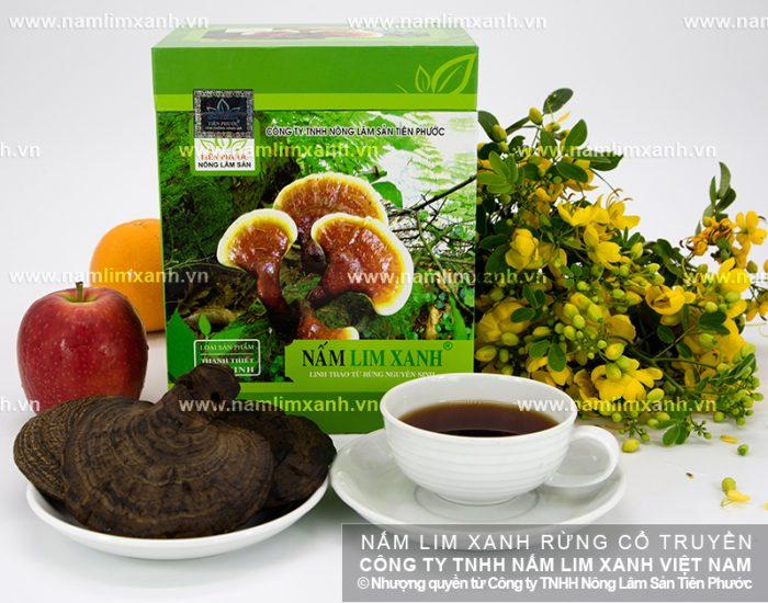 Sản phẩm nấm lim xanh được chế biến từ nấm lim rừng loại 1.
