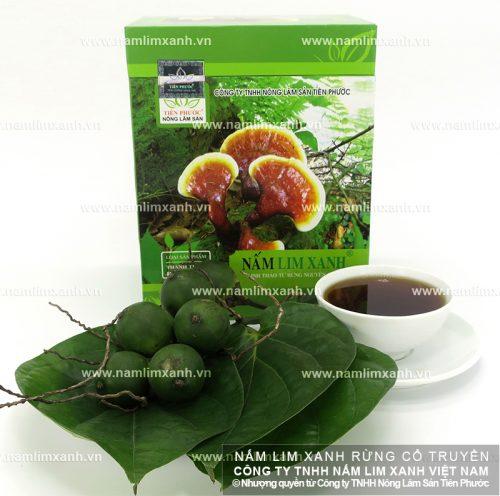Nấm lim xanh của Công ty TNHH Nông lâm sản Tiên Phước được niêm yết giá công khai