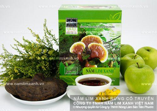 Nấm lim rừng của Công ty TNHH Nông lâm sản Tiên Phước chữa bệnh ung thư rất hiệu quả