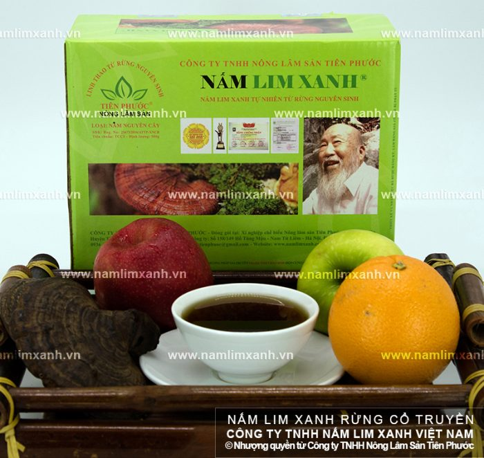 Nấm lim xanh pha trà là phương pháp nhiều người yêu thích.