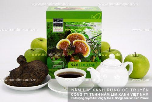 Sản phẩm nấm lim xanh đã qua chế biến của Công ty TNHH Nông lâm sản Tiên Phước